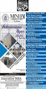 admissions Open - Minhaj University Lahore
